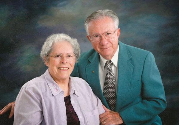 Senior couple in professional photograph